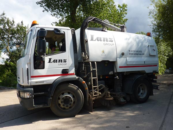 A road sweeper serving The Thames Valley