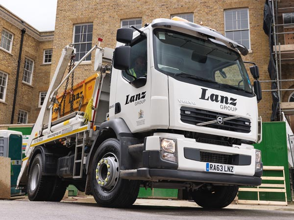 A Lanz Group skip hire lorry