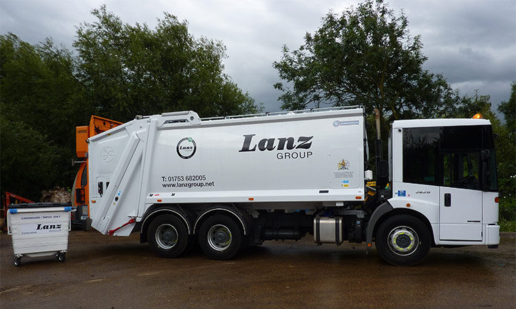 Wheelie bins lorry from Lanz Group