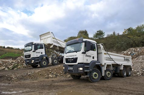 A tipper lorry from Lanz Group