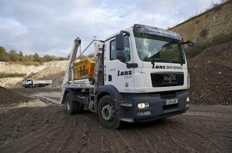 A skip hire lorry in Berkshire