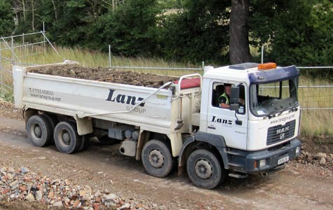 A waste management lorry from Lanz Group