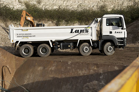 A waste recycling lorry from Lanz Group
