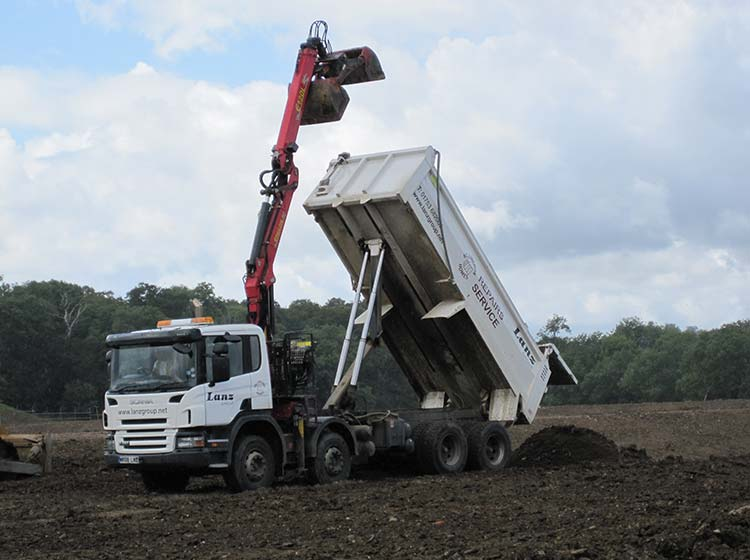 grab lorry land restoration